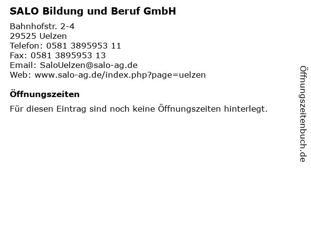 SALO Bildung und Beruf GmbH in Uelzen: Adresse und Öffnungszeiten