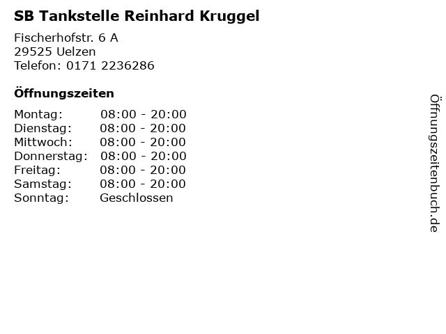 SB Tankstelle Reinhard Kruggel in Uelzen: Adresse und Öffnungszeiten