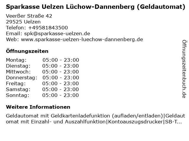 Sparkasse Uelzen Lüchow-Dannenberg - (Geldautomat REWE Marktcenter Uelzen) in Uelzen: Adresse und Öffnungszeiten
