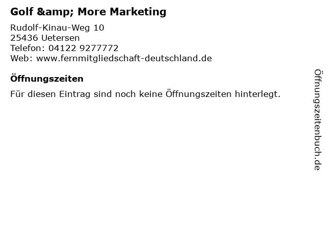 Golf & More Marketing in Uetersen: Adresse und Öffnungszeiten