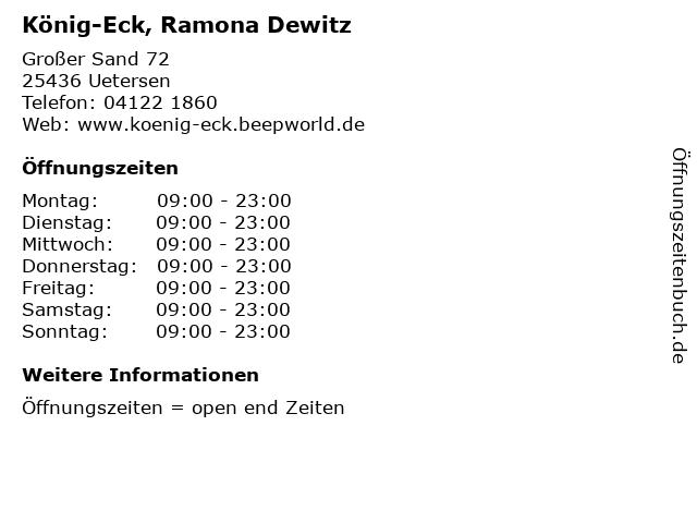König-Eck, Ramona Dewitz in Uetersen: Adresse und Öffnungszeiten