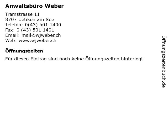 Anwaltsbüro Weber in Uetikon am See: Adresse und Öffnungszeiten