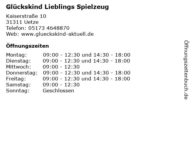 Glückskind Lieblings Spielzeug in Uetze: Adresse und Öffnungszeiten