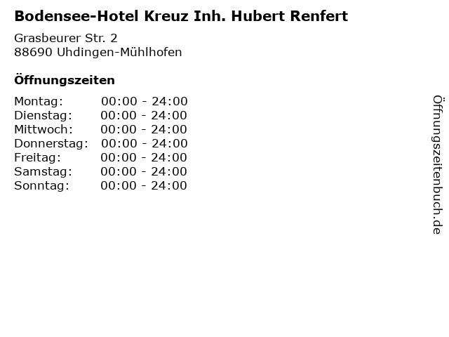 Bodensee-Hotel Kreuz Inh. Hubert Renfert in Uhdingen-Mühlhofen: Adresse und Öffnungszeiten