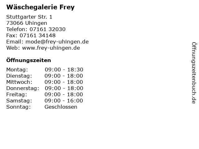 Wäschegalerie Frey in Uhingen: Adresse und Öffnungszeiten