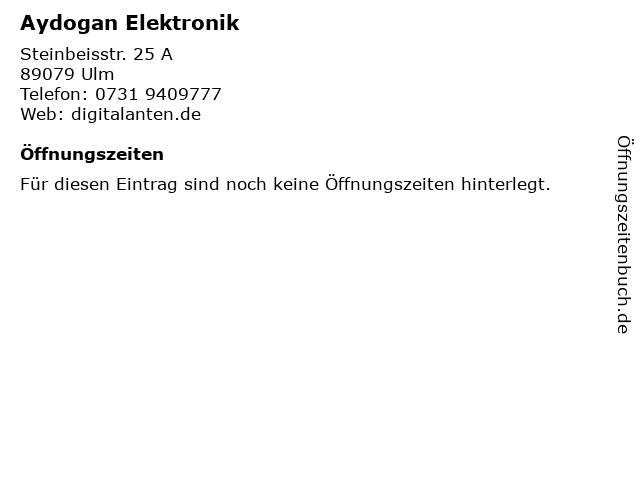Aydogan Elektronik in Ulm: Adresse und Öffnungszeiten