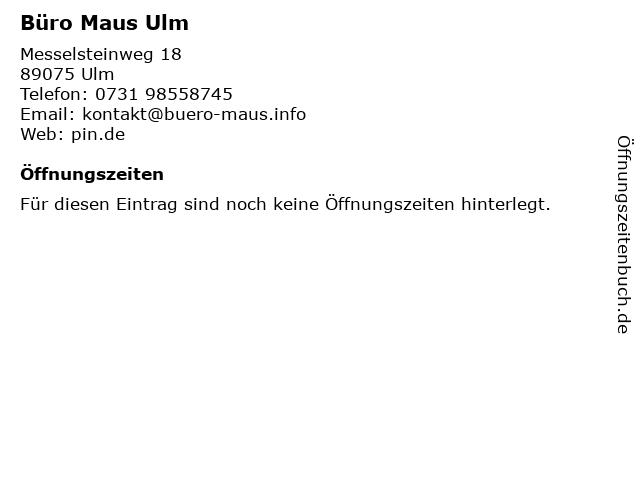 ᐅ Offnungszeiten Buro Maus Ulm Messelsteinweg 18 In Ulm