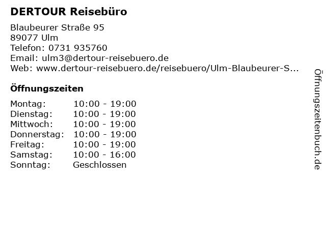 DER Deutsches Reisebüro in Ulm: Adresse und Öffnungszeiten