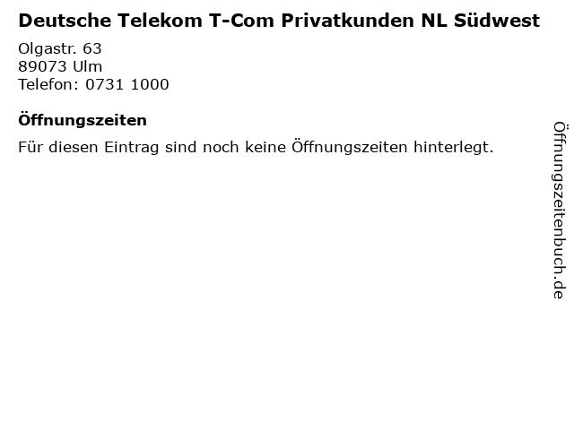 ᐅ öffnungszeiten Deutsche Telekom T Com Privatkunden Nl Südwest