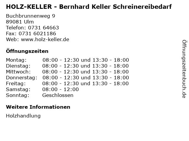 HOLZ-KELLER - Bernhard Keller Schreinereibedarf in Ulm: Adresse und Öffnungszeiten