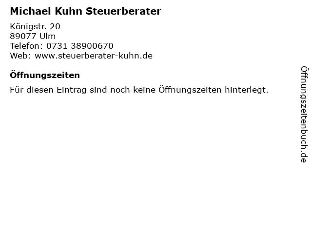 Michael Kuhn Steuerberater in Ulm: Adresse und Öffnungszeiten