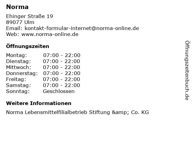Norma in Ulm: Adresse und Öffnungszeiten