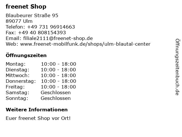 mobilcom-debitel in Ulm: Adresse und Öffnungszeiten