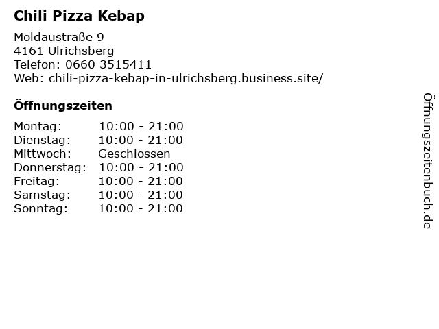 Chili Pizza Kebap in Ulrichsberg: Adresse und Öffnungszeiten