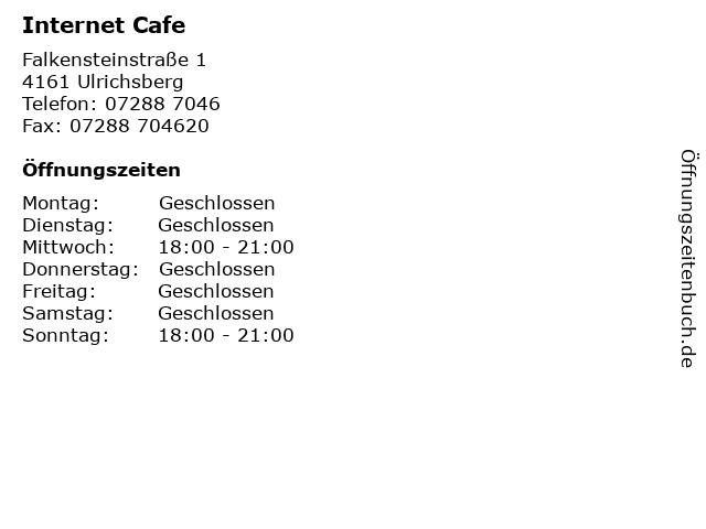 Internet Cafe in Ulrichsberg: Adresse und Öffnungszeiten