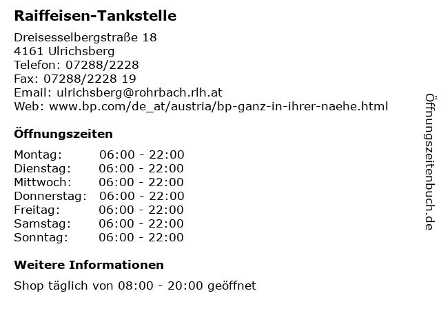 Raiffeisen-Tankstelle in Ulrichsberg: Adresse und Öffnungszeiten