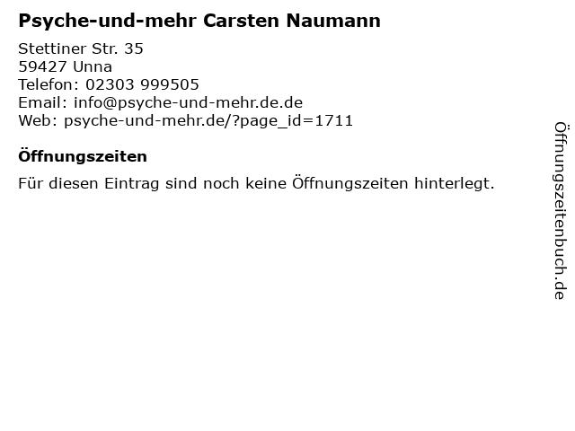 Psyche-und-mehr Carsten Naumann in Unna: Adresse und Öffnungszeiten