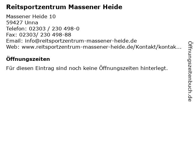 Reitsportzentrum Massener Heide in Unna: Adresse und Öffnungszeiten