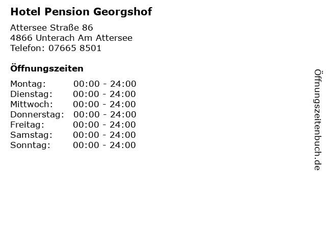 Hotel Pension Georgshof in Unterach Am Attersee: Adresse und Öffnungszeiten