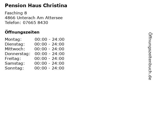 Pension Haus Christina in Unterach Am Attersee: Adresse und Öffnungszeiten