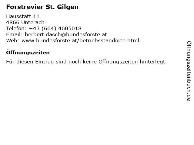Forstrevier St. Gilgen in Unterach: Adresse und Öffnungszeiten