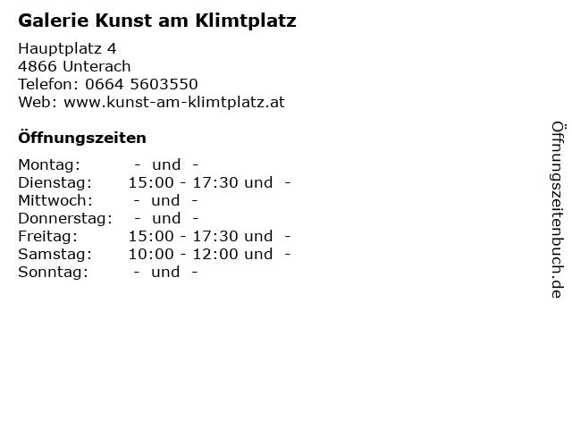 Galerie Kunst am Klimtplatz in Unterach: Adresse und Öffnungszeiten