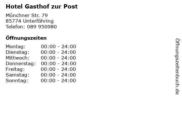ᐅ öffnungszeiten Hotel Gasthof Zur Post Münchner Str 79 In