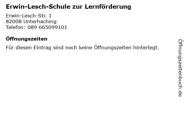 Erwin-Lesch-Schule zur Lernförderung in Unterhaching: Adresse und Öffnungszeiten
