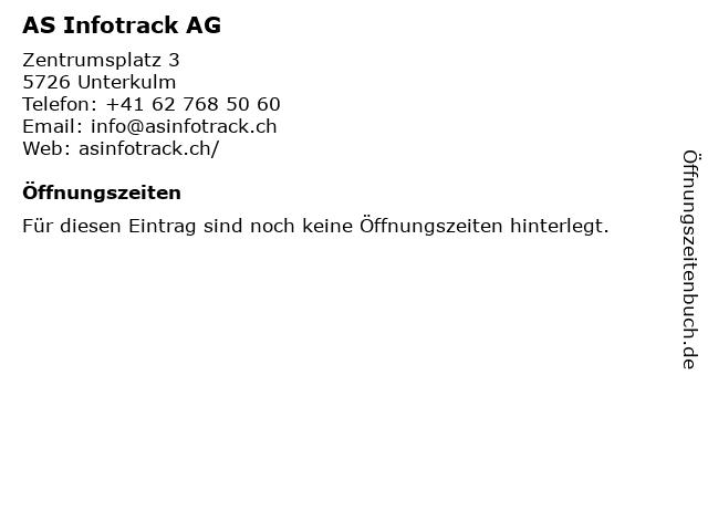 AS Infotrack AG in Unterkulm: Adresse und Öffnungszeiten