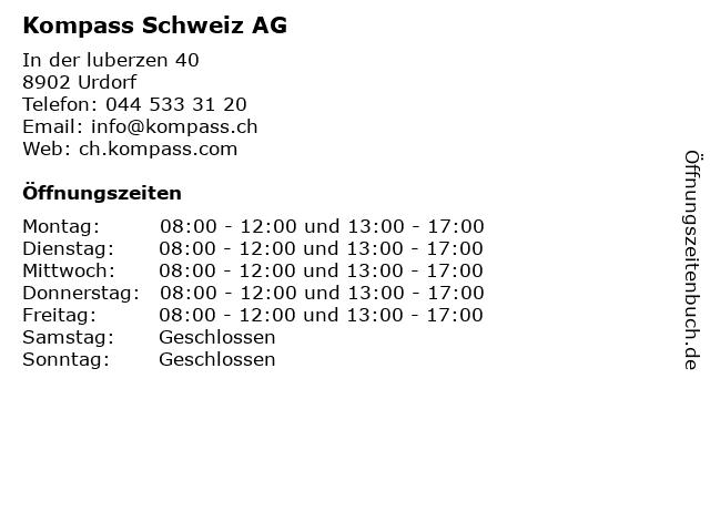 Kompass Schweiz AG in Urdorf: Adresse und Öffnungszeiten