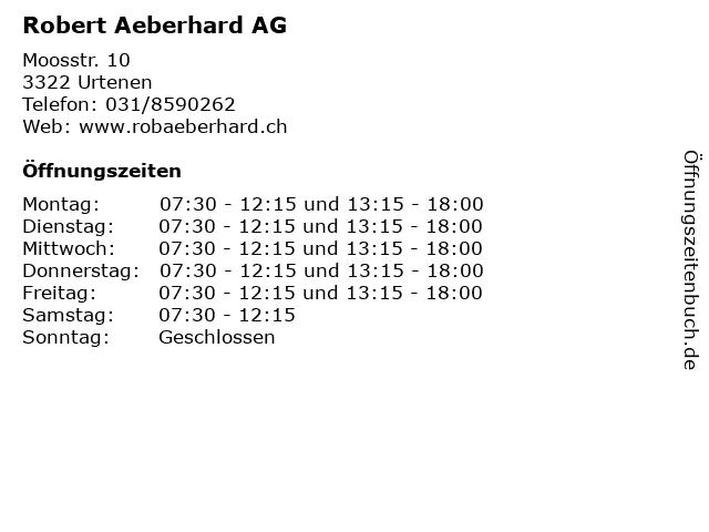 Robert Aeberhard AG in Urtenen: Adresse und Öffnungszeiten