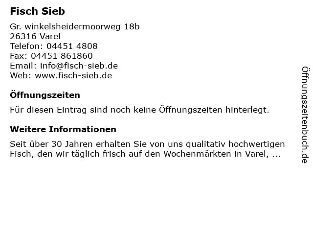 Fisch Sieb in Varel: Adresse und Öffnungszeiten