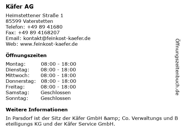 Käfer AG in Vaterstetten: Adresse und Öffnungszeiten