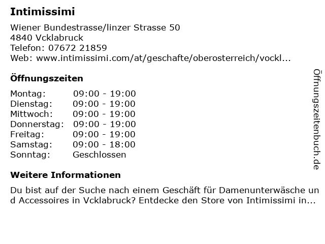Intimissimi in Vöcklabruck: Adresse und Öffnungszeiten