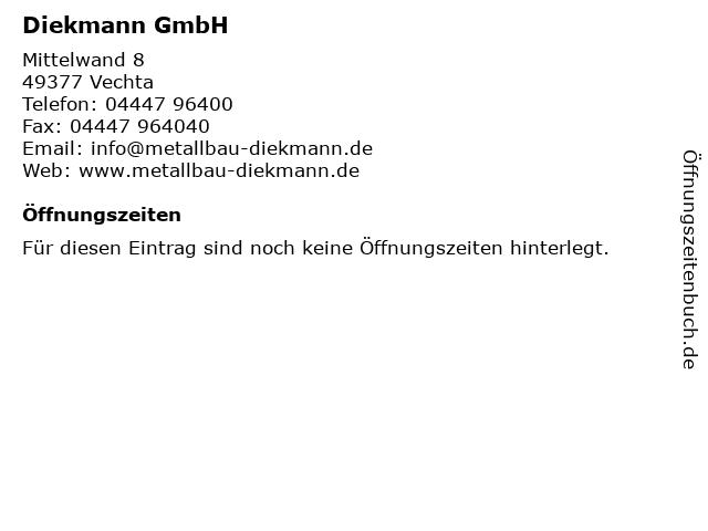 Diekmann GmbH in Vechta: Adresse und Öffnungszeiten