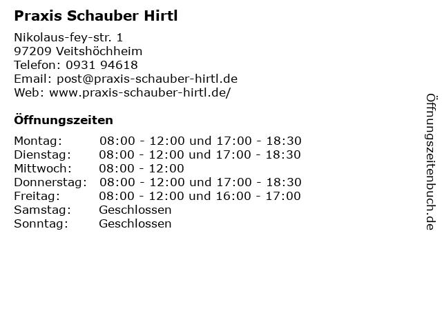 Praxis Schauber Hirtl in Veitshöchheim: Adresse und Öffnungszeiten