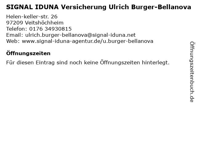 SIGNAL IDUNA Versicherung Ulrich Burger-Bellanova in Veitshöchheim: Adresse und Öffnungszeiten