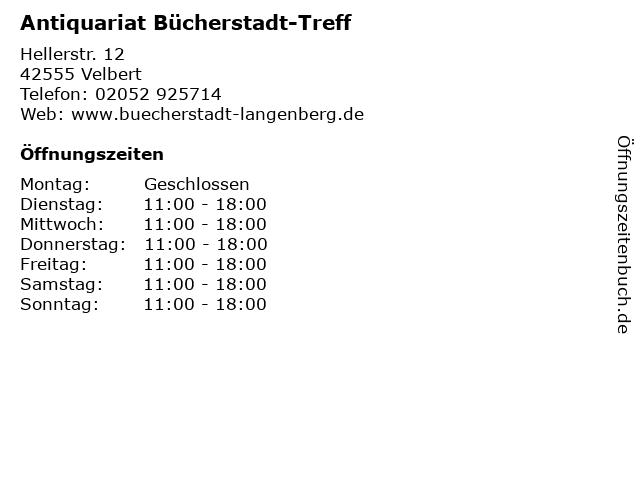 Antiquariat Bücherstadt-Treff in Velbert: Adresse und Öffnungszeiten