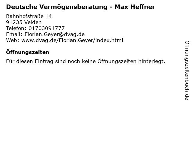 Deutsche Vermögensberatung - Max Heffner in Velden: Adresse und Öffnungszeiten