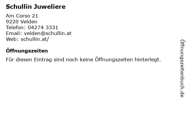 Schullin Juweliere in Velden: Adresse und Öffnungszeiten