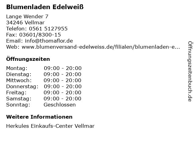 Edelweiß in Vellmar: Adresse und Öffnungszeiten