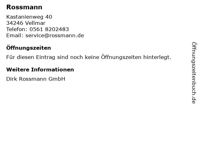 Rossmann in Vellmar: Adresse und Öffnungszeiten
