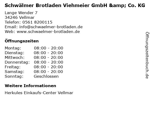 Schwälmer Brotladen Viehmeier GmbH & Co. KG in Vellmar: Adresse und Öffnungszeiten