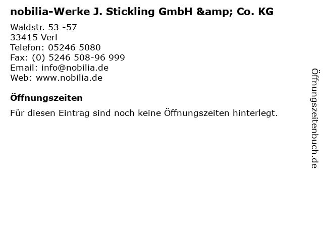 ᐅ Offnungszeiten Nobilia Werke J Stickling Gmbh Co Kg