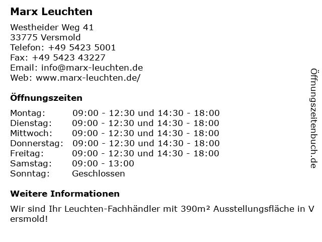 Gebr. Marx GmbH in Versmold: Adresse und Öffnungszeiten