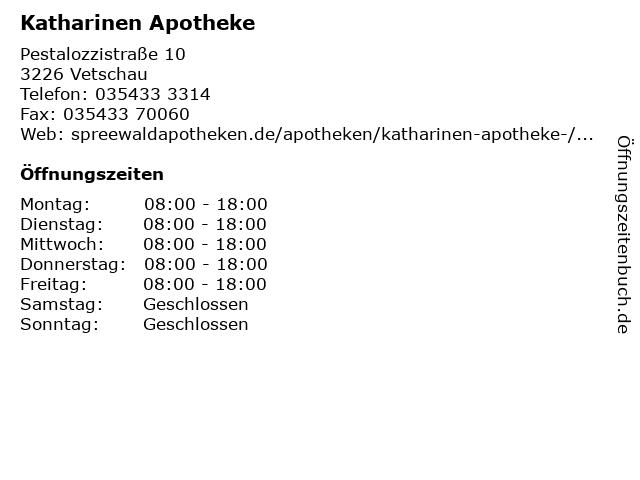 Katharinen-Apotheke in Vetschau: Adresse und Öffnungszeiten