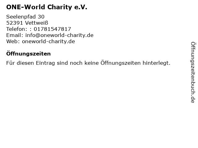 ONE-World Charity e.V. in Vettweiß: Adresse und Öffnungszeiten