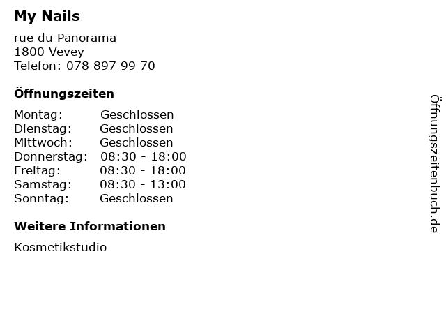 My Nails in Vevey: Adresse und Öffnungszeiten