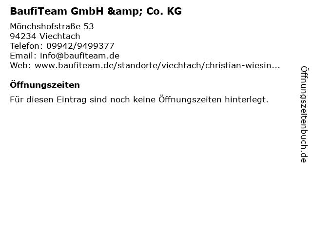 BaufiTeam GmbH & Co. KG in Viechtach: Adresse und Öffnungszeiten