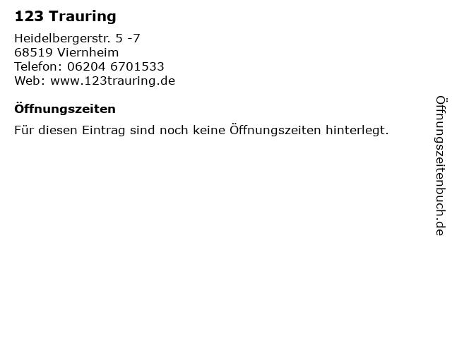 123 Trauring in Viernheim: Adresse und Öffnungszeiten